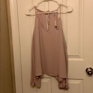 Pale pink forever 21 blouse
